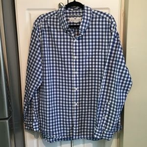 Old Navy Blue & White Checked Button Up Shirt.